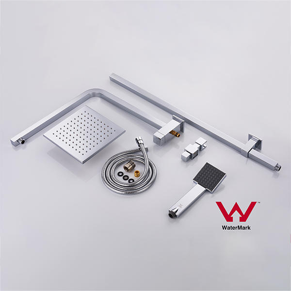 Watermark Approved Square Bathroom Assembly Shower Set