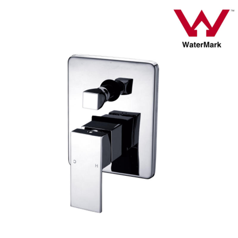 Watermark Approved Square Bathroom Concealed Shower Mixer with Diverter