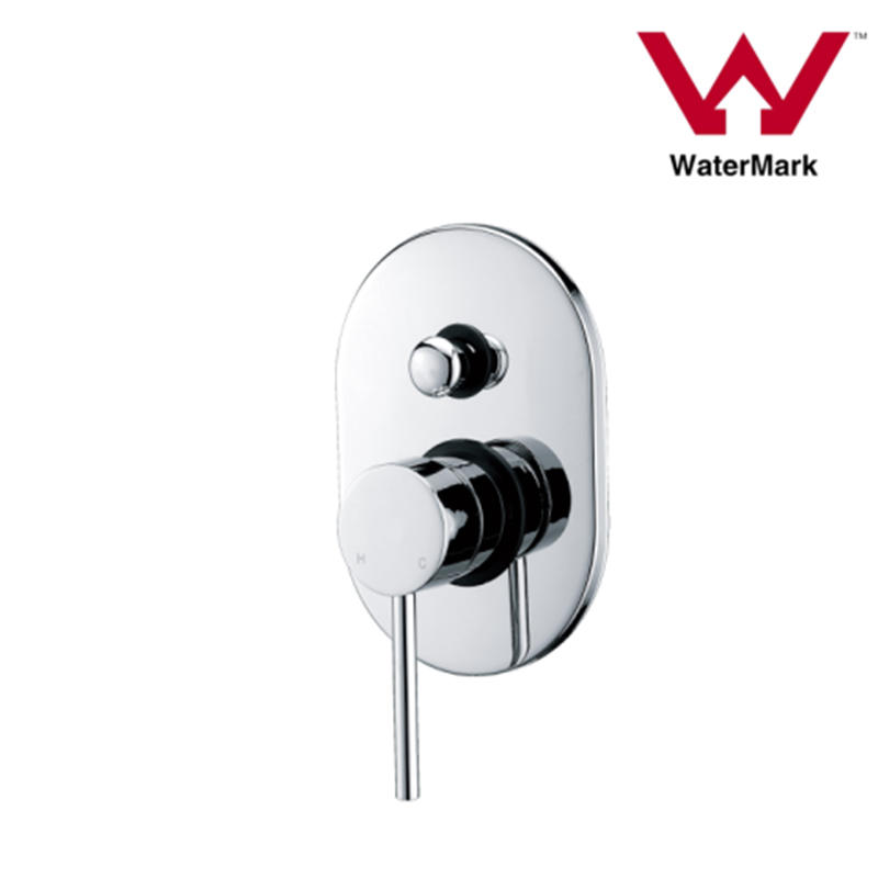 Watermark Approved Round Bathroom Concealed Shower Mixer with Diverter
