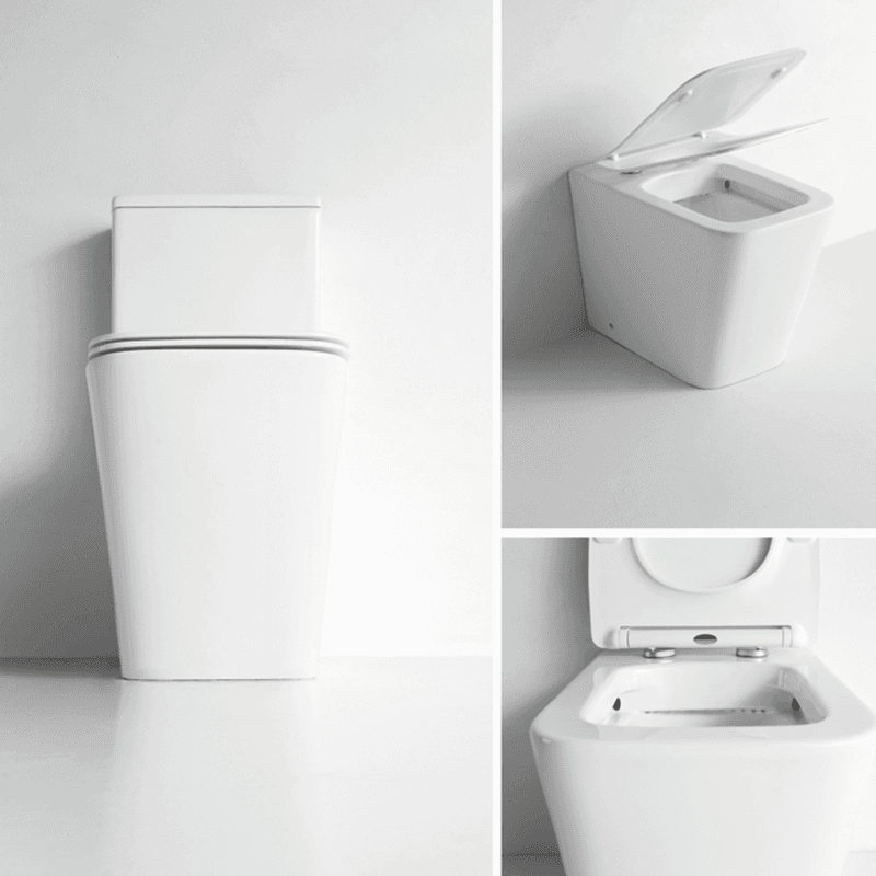 Watermark Two-piece Rimless Bathroom Universal Trap Toilet (2051A)