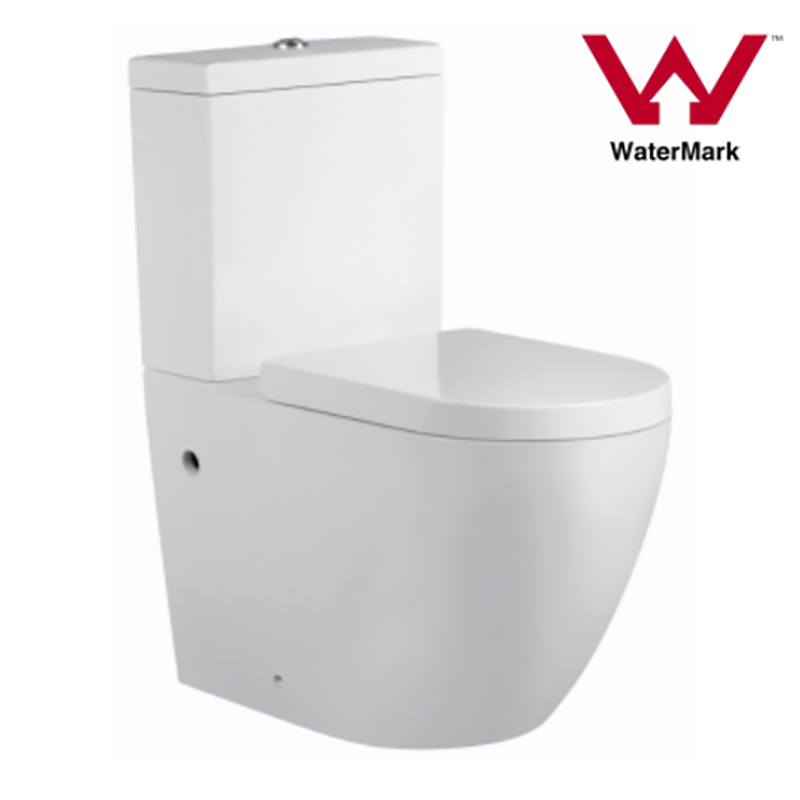 Watermark Two-piece Rimless Bathroom Universal Trap Toilet Suite (2062A)
