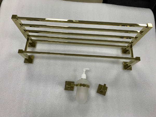 Gold brass series bathroom fitting