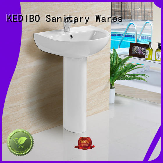 Hot customized square pedestal basin square KEDIBO Brand