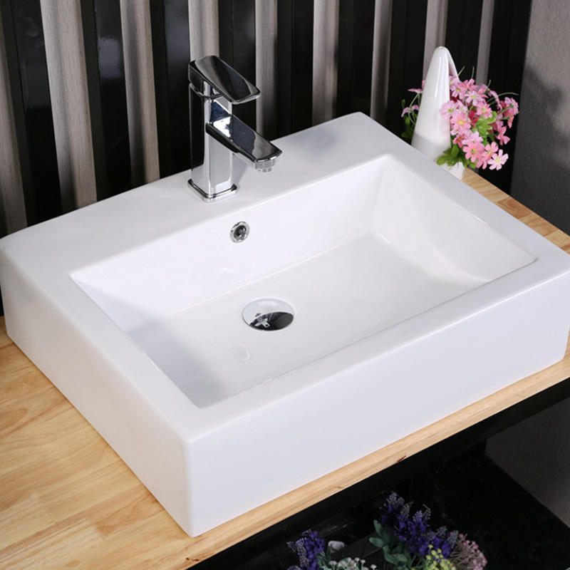 BATHROOM SQUARE CERAMIC ART BASIN 7005