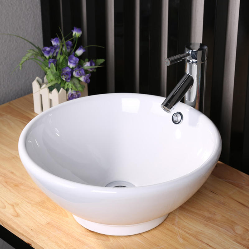 CERAMIC BATHROOM ROUND TOP MOUNTING BASIN  7008