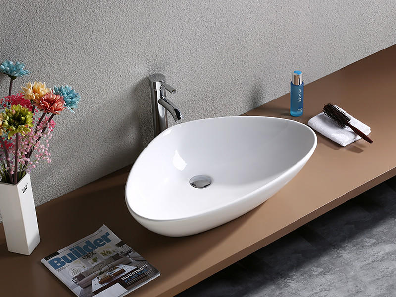 semiembedded porcelain square mounting toilet wash basin design KEDIBO Brand