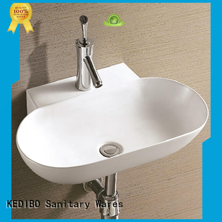 KEDIBO pratical wall hung wash basin overseas market for commercial hotel