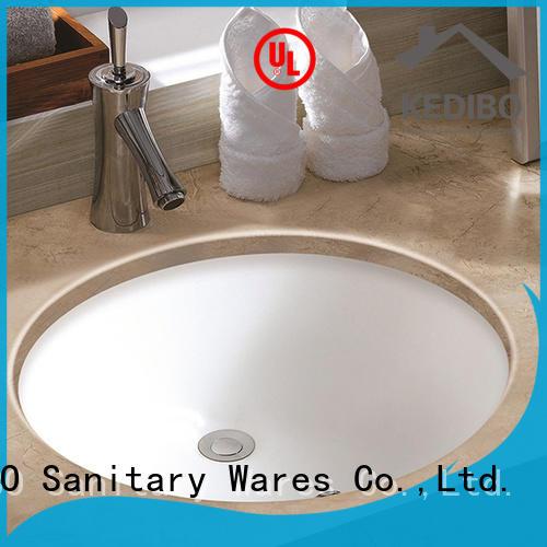 KEDIBO pratical white undermount bathroom sink factory price for hotel