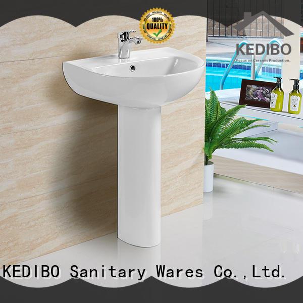 KEDIBO easy-to-install pedestal wash basin china factory for shopping mall