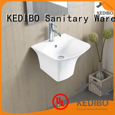 wall mounted basin halfpedestal for commercial hotel KEDIBO