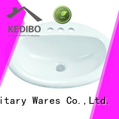 KEDIBO lavatory oval undermount bathroom sink at discount for public washroom