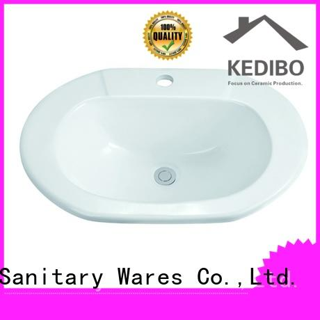 pratical oval undermount bathroom sink bowl export for super market