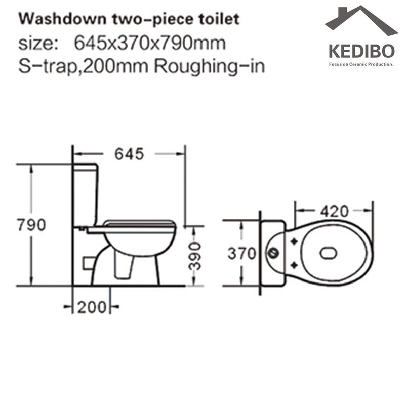 KEDIBO onepiece two piece toilet in china for hotel-2