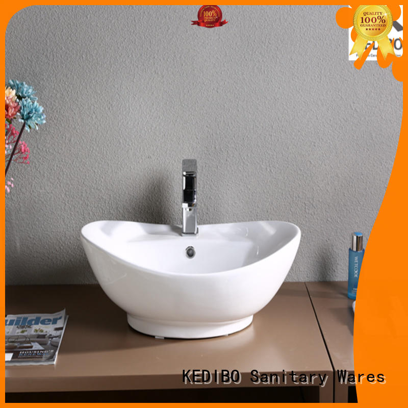 KEDIBO size above counter bathroom sink china factory for school