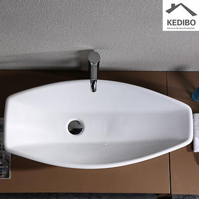 STYLISH LONG VANITY CERAMIC BASIN 1003A
