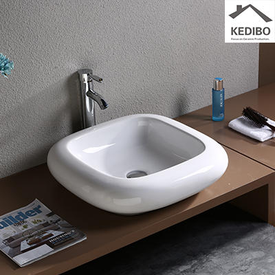 SQUARE VANITY CERAMIC COUNTER TOP BASIN FOR BATHROOM 045