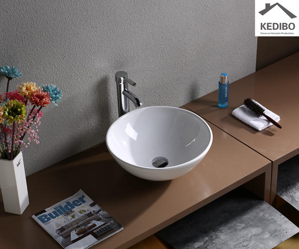 Round Small Size Ceramic Basin 7008J