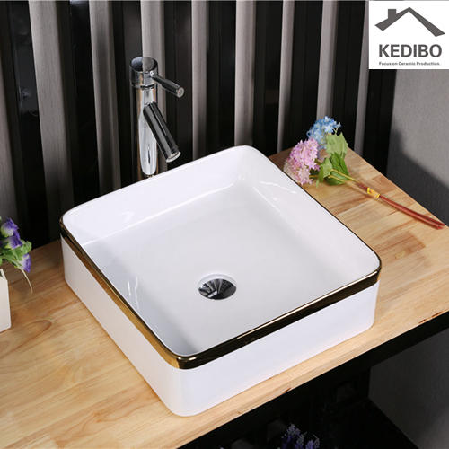 400X400 Square Decorate Bathroom Art Basin Sink 7607