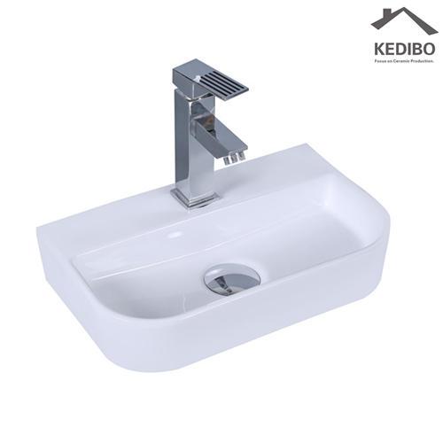 380X285 Bathroom Small Size Counter Top Ceramic Basin 1010