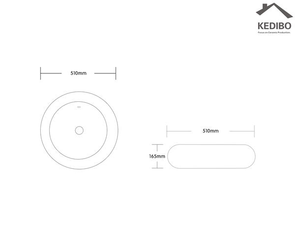 Round Design CE Ceramic Basin 7002