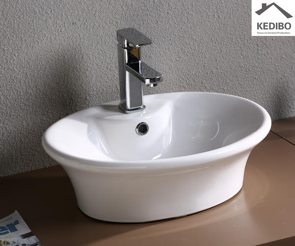 Oval Water Large Capacity Counter Top Basin 7012