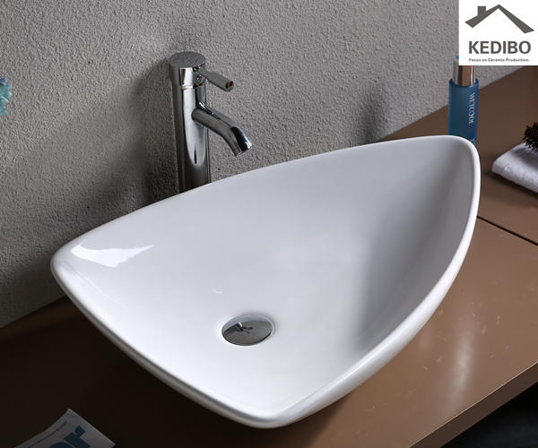 660x460 Special Design Triangle Design Ceramic Art Basin( 7014)