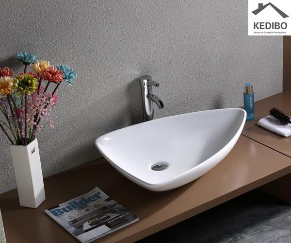 660x460 Special Design Triangle Design Ceramic Art Basin( 7014)