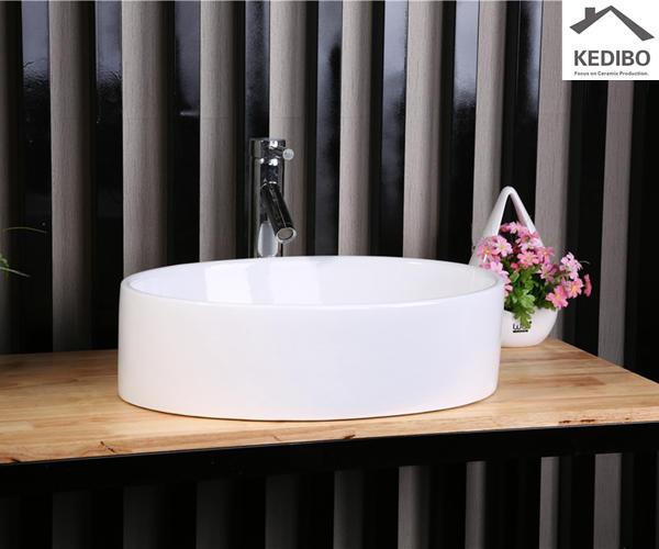 Oval Deep Bowl Counter Top White Art Basin 7016