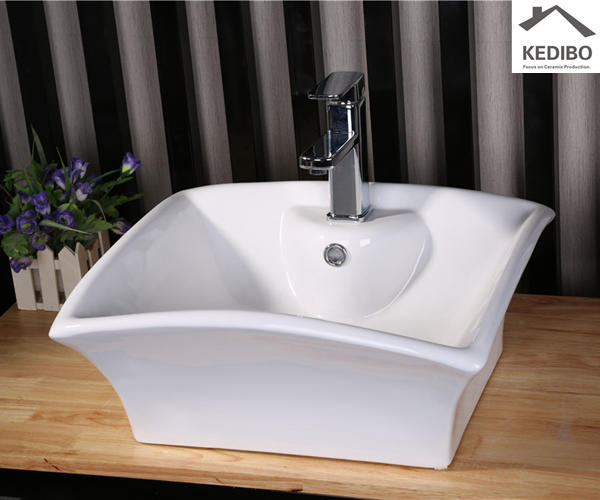 Special Design Square Counter Top Ceramic Basin 7017