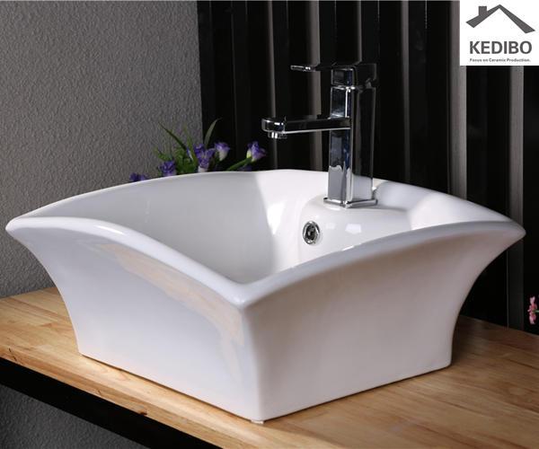 Special Design Square Counter Top Ceramic Basin 7017