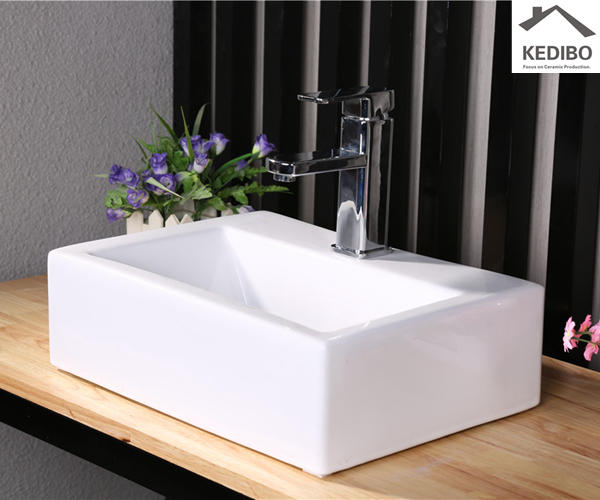 420x315 Square Thick Art Basin With Tap Hole  7018A
