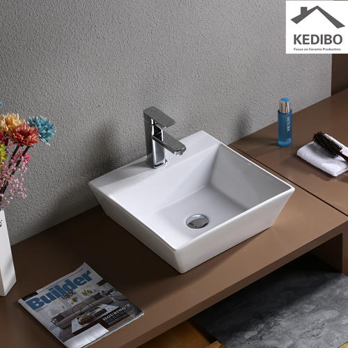 430x430 Square Thin Edge Porcelain Bathroom Basin 7019