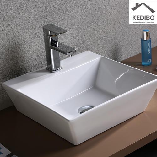 430x430 Square Thin Edge Porcelain Bathroom Basin 7019