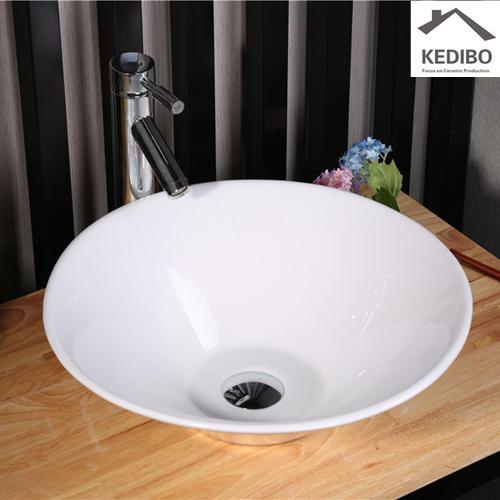 420x420 Thin Round Bowl Porcelain Bathroom Art Basin  7020