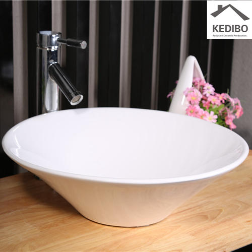 420x420 Thin Round Bowl Porcelain Bathroom Art Basin 7020