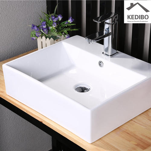 500mm Length Square Thin Edge Ceramic Basin 7021