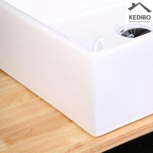500mm Length Square Thin Edge Ceramic Basin 7021