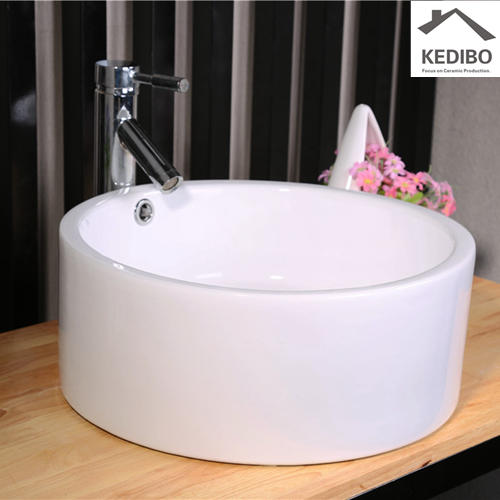 CE Certification Round Ceramic Art Basin 7022