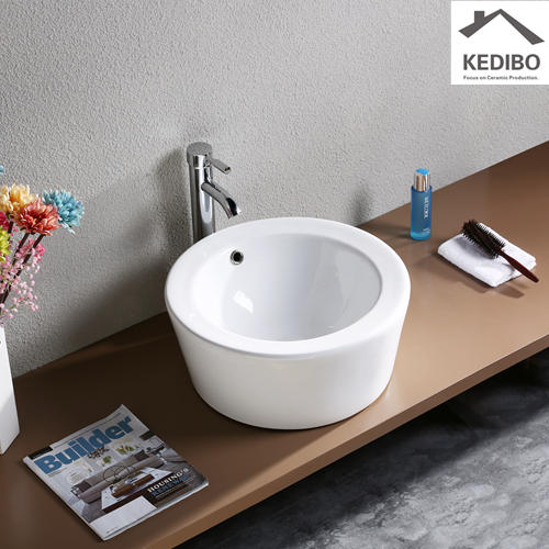200mm High Height Round Ceramic Art Basin 7022A