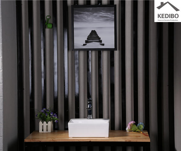 KEDIBO unique design above counter bathroom sink from manufacturer for residential building