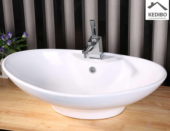 Bathroom Ceramic Top Mounted Wash Bowl 7025