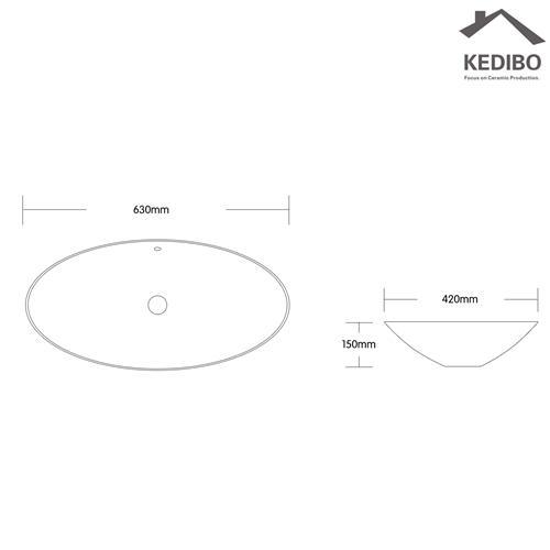 Big Size Oval Vanity Ceramic Art Basin 7027C