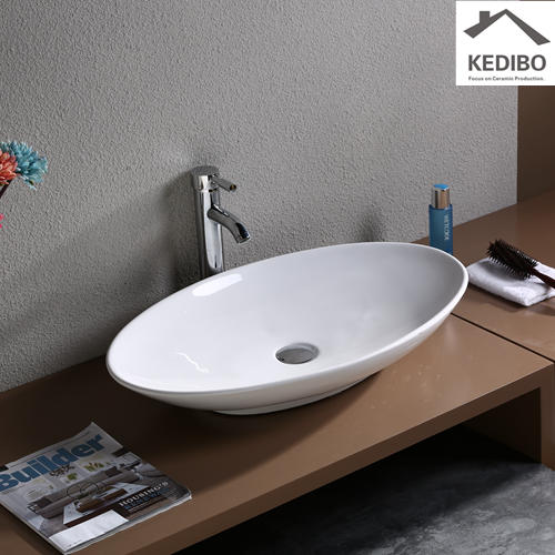Large Size Bathroom Porcelain Counter Top Basin  7027D