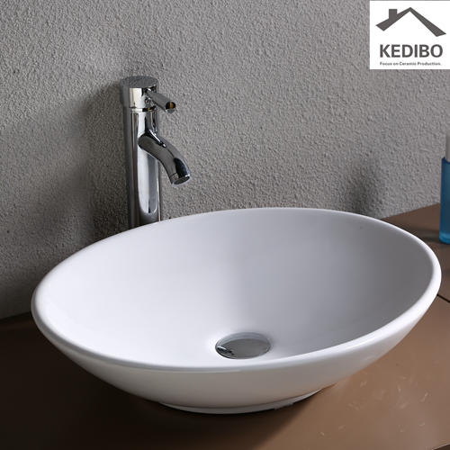 Small Size Oval Restroom Ceramic Basin 7027A