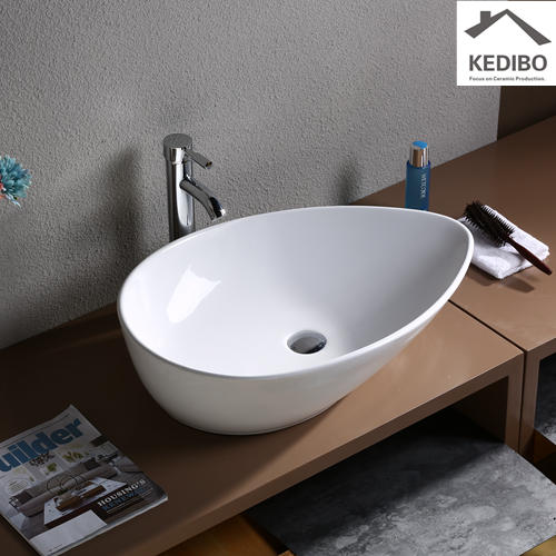 Teardrop-shaped Bathroom Stylish Ceramic Art Basin 7030