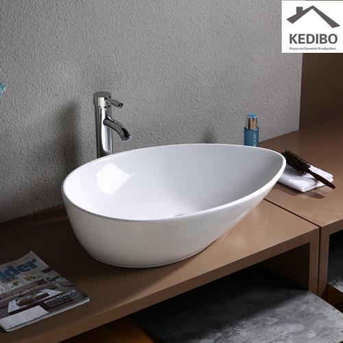 Teardrop-shaped Bathroom Stylish Ceramic Art Basin 7030