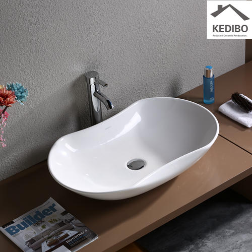 Oval Bathroom Ceramic Art Basin  7031