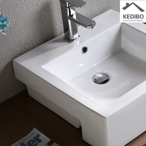 Semi-embedded Square Ceramic Basin 7033C