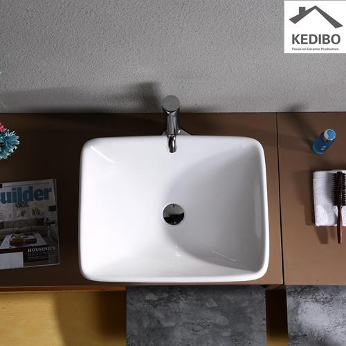555X440 Square Bathroom Counter Top Wash Basin 7034C