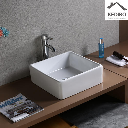Square Bowl Bathroom Ceramic Sink 7037